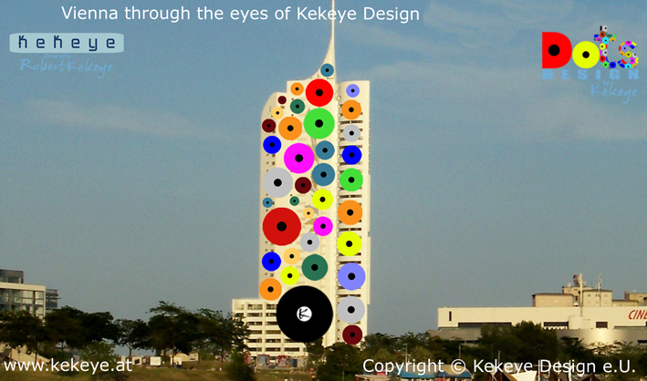 Hochhaus Neue Donau Wien, Vienna in Dots Design / Photo © Kekeye Design e.U.