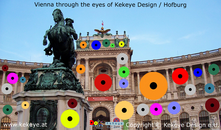 Hofburg Wien, Vienna in Dots Design / Photo © Kekeye Design e.U.