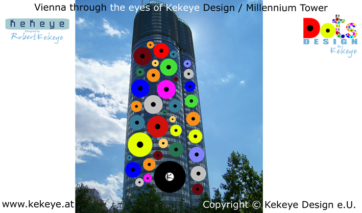 Millennium Tower Wien, Vienna in Dots Design / Photo © Kekeye Design e.U.
