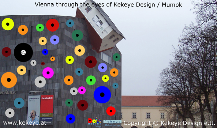 Mumok Wien, Vienna in Dots Design / Photo © Kekeye Design e.U.
