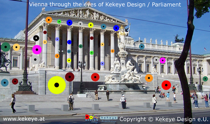 Parlament Wien, Parliament Vienna in Dots Design / Photo © Kekeye Design e.U.