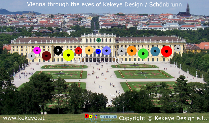 Schönbrunn Wien, Vienna in Dots Design / Photo © Kekeye Design e.U.