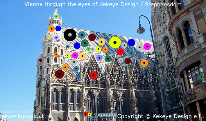 Stephansdom Wien, St. Stephen's Cathedral Vienna in Dots Design / Photo © Kekeye Design e.U.