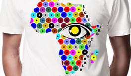 Afrika, Giraffe T-Shirt inkl. 5€ Spende für blinde und sehbehinderte Menschen!