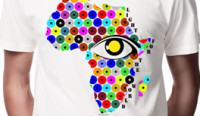 Africa T-shirt in Kekeye Dots Design, including 5 € donation for blind & visually impaired