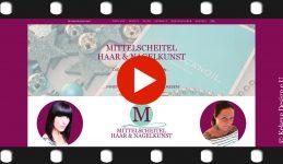 Video Präsentation Mittelscheitel Haarkunst, Nagelkunst Wien, Kekeye Design Produktion