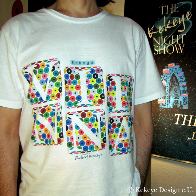 Kekeye T-Shirt of the Day / Wien, Vienna in Dots Design / Photo © Kekeye Design e.U.